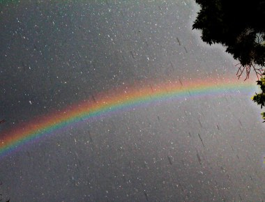 """Rainbow and the rain"" by Ryan Ojibway is licensed under CC BY-NC 2.0"